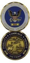 US Navy Vietnam Veteran Challenge Coin