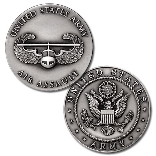 US Army Air Assault Badge Challenge Coin - Meach s Military ... ac934a41defc