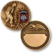 "82nd Airborne Division ""All Americans"" Bronze Challenge Coin"