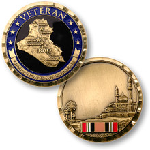 Operation Iraqi Freedom Veteran Brass Challenge Coin