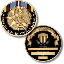 Expeditionary Service Medal Bronze Challenge Coin