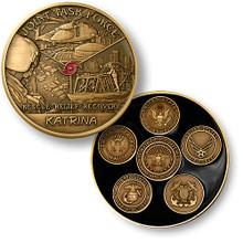 Joint Task Force Katrina Bronze Challenge Coin