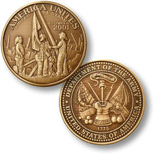 America Unites Bronze Challenge Coin