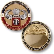82nd Airborne Division Basic Jump Brass Challenge Coin