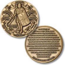 Armor of God High Relief Challenge Coin
