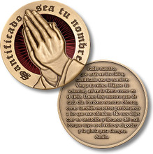 The Lord's Prayer (Spanish Version) Challenge Coin