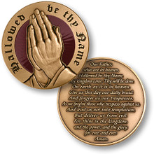 The Lord's Prayer Challenge Coin