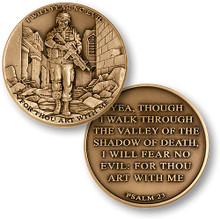 I Will Fear No Evil - Psalm 23 Challenge Coin