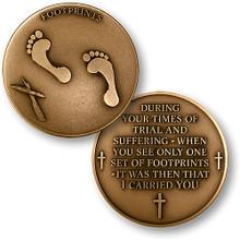 Footprints Challenge Coin