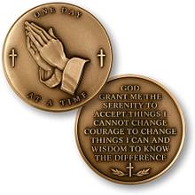 Serenity Prayer Challenge Coin