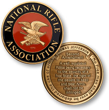 NRA Enamel - Second Amendment Challenge Coin