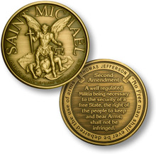 St. Michael - Second Amendment Challenge Coin