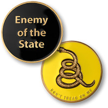"Enemy of the State ""Don't Tread On Me"" Challenge Coin"