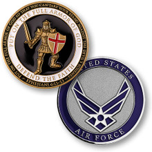 Armor of God - Air Force Challenge Coin
