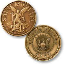 Saint Michael - Navy Challenge Coin