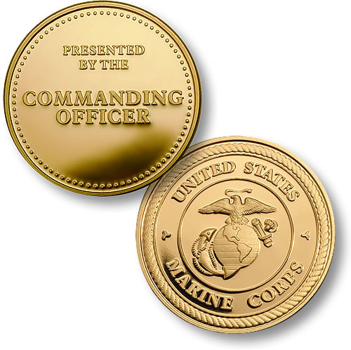 U.S. Marines Commanding Officer Challenge Coin - Meach s Military ... 5e830afa422f