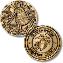 Armor of God High Relief - Marines Challenge Coin