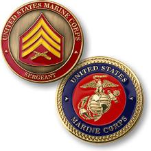 U.S. Marines Sergeant Challenge Coin