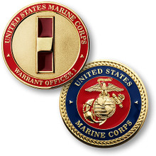 U.S. Marines Warrent Officer 1 Challenge Coin