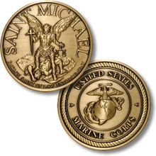 Saint Michael - USMC Challenge Coin