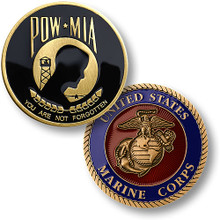 POW / MIA Marine Corps Challenge Coin