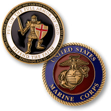 Armor of God - Marines Challenge Coin