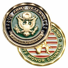 US Army Veteran Proudly Served Coin
