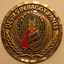 504th PIR Association Challenge Coin