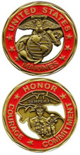 U.S. Marines Honor, Courage, Comitment Challenge Coin