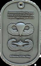 75th Anniversary Airborne Challenge Coin