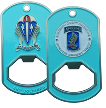 173rd Airborne Brigade Dog Tag Bottle Opener