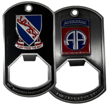 508th Parachute Infantry Regiment Dog Tag Bottle Opener