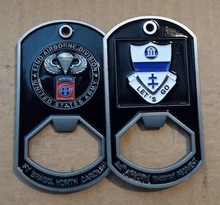 325th Airborne Infantry Regiment Dog Tag Bottle Opener