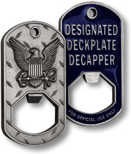 Navy Deckplate Decapper Dog Tag Bottle Opener