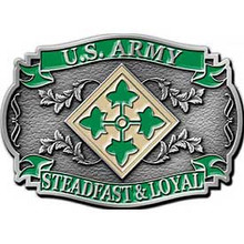 4th Infantry Division Buckle