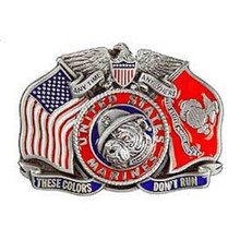 """USMC """"These Colors Don't Run"""" Buckle"""
