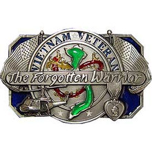 "Vietnam Veteran ""The Forgotten Warrior"" Buckle"