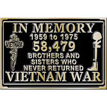 "Vietnam 'In Memorium"" Buckle"
