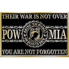 "POW/MIA ""THEIR WAR IS NOT OVER"" Buckle"