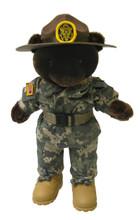 Army Drill Instructor Army Combat Uniform (ACU) Male - Mini Bear