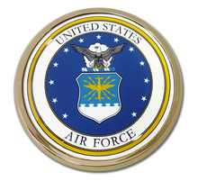 Air Force Chrome Auto Emblem (Seal)