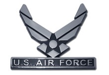 Air Force Chrome Auto Emblem (Wings)