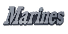"Marine ""MARINES"" Chrome Auto Emblem"