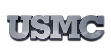 """Marine """"USMC"""" Chrome Auto Emblem"""