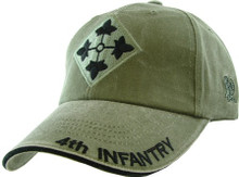 4TH INFANTRY (OD GREEN) Baseball Cap