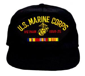8ec81259cc7 U.S. MARINE CORPS VIETNAM VETERAN Baseball Cap - Meach s Military ...