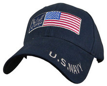 U.S. NAVY with US FLAG Baseball Cap