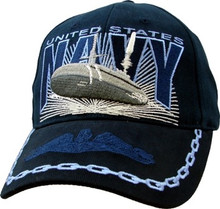 U.S. NAVY W/SUBMARINE Baseball Cap
