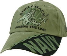 U.S. NAVY SHELLBACK OD GREEN Baseball Cap