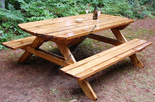 Surprising Picnic Table Family Size Park Style Standard 7 With Attached Bench Seats Pdf Download Plans So You Can Get It Now Detailed Step By Step Diy Patterns Gamerscity Chair Design For Home Gamerscityorg